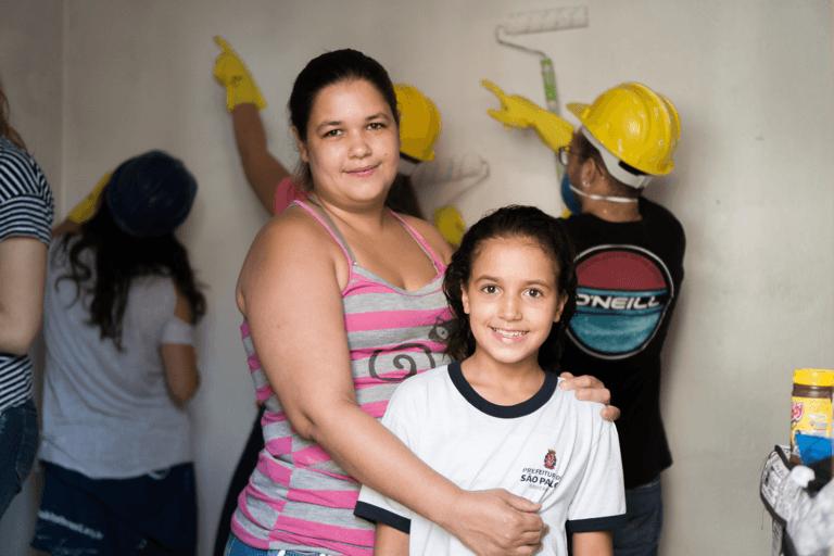 Vanessa foi uma das famílias beneficiadas. Foto: Rafael Yamamoto/Habitat
